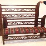 Navajo bed with bench footboard