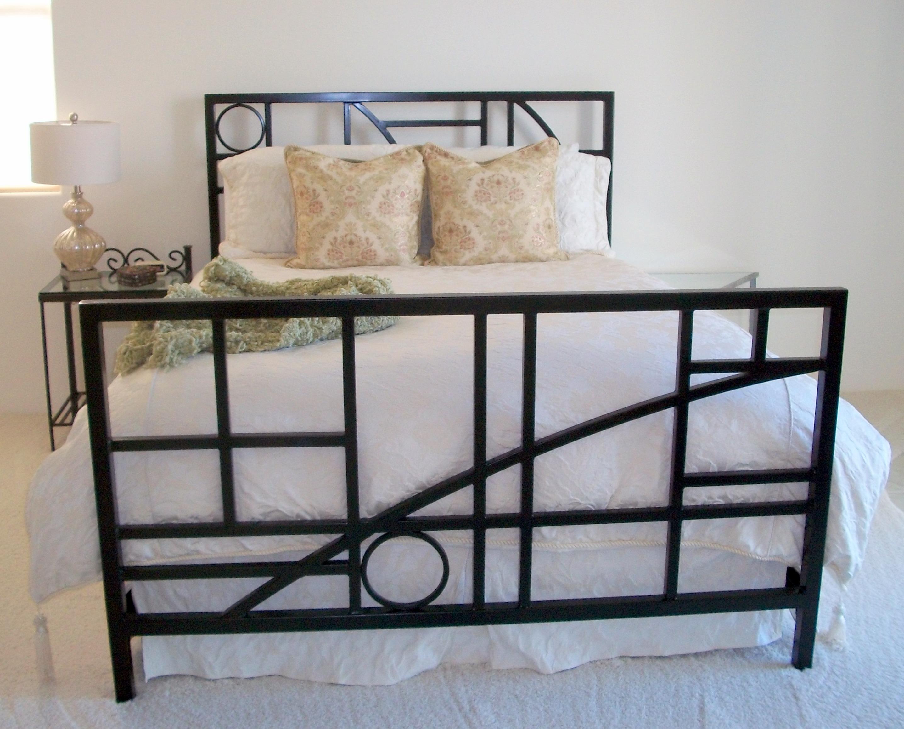 Custom queen bed