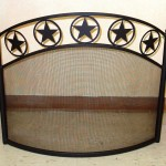 Curved, arched fireplace screen