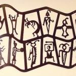 Double Petroglyph Wall Art 46x28 $368