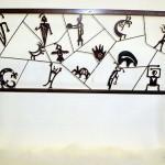 Petroglyph headboard