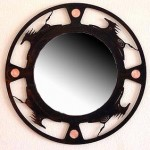 Spirit Horse mirror 34x34 $672