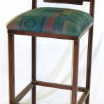 Tahoe barstool with stagecoach