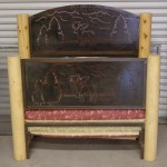 custom lodge-pole twin bed