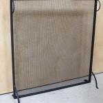 Flat rectangular firescreen