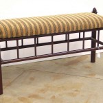Custom bench with finials
