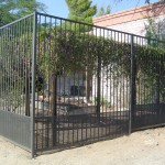 Fence with perforated at bottom