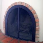 Beehive fireplace doors