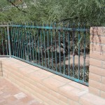 Fence with spear point pickets