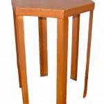 Custom 6-sided pedestal table