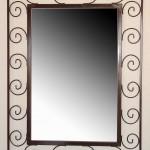 Custom mirror with spirals