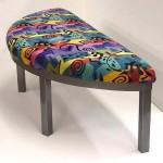 Custom half round bench