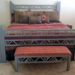 Navajo bed with bench