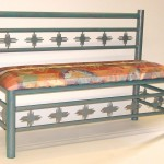 Custom bench with zia inserts